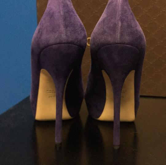 Gucci Purple Platforms