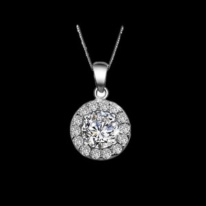 Swiss Cubic Zirconia Diamond Heart Pendant Necklace For Women
