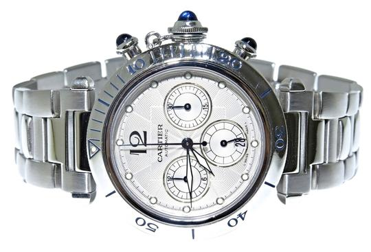 Preload https://item2.tradesy.com/images/cartier-2113-pasha-chronograph-stainless-steel-watch-10310896-0-1.jpg?width=440&height=440