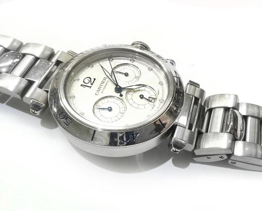 Cartier CARTIER 2113 PASHA CHRONOGRAPH STAINLESS STEEL WATCH