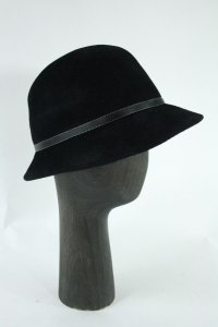 Kelly Christy Black Wool Fedora Hat