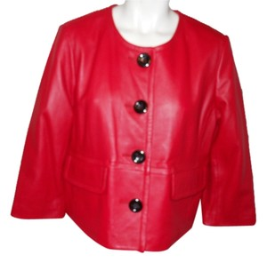 Kasper Leather red Leather Jacket