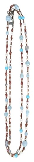 Preload https://item1.tradesy.com/images/aqua-blue-and-brown-beaded-necklace-10311355-0-3.jpg?width=440&height=440