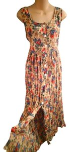 BEIGE MULTI Maxi Dress by Urban Renewal Button Front Urban Outfitters Nineties Reformation Nineties Grunge Flowered Maxi