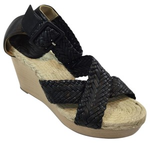 Herms Black Wedges