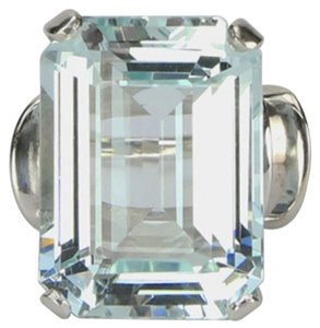 Modernist Aquamarine White Gold Ring