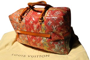 Louis Vuitton Richard Prince Denim pink, orange Travel Bag