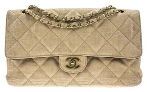 Chanel Vintage Raffia Wicker Shoulder Bag