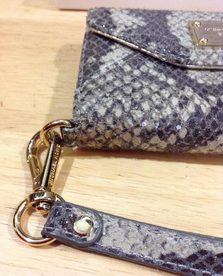 0d42f99c8c1d Michael Kors Brown/Beige Clutch Iphone Python Wallet Tech Accessory -  Tradesy