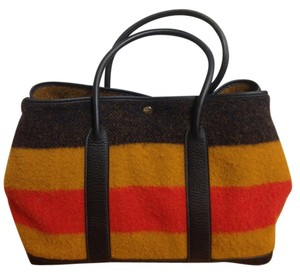 Hermès Garden Party Pm with Box Dust Navy Yellow Orange Rocabar Wool ... d09ee93232fa1