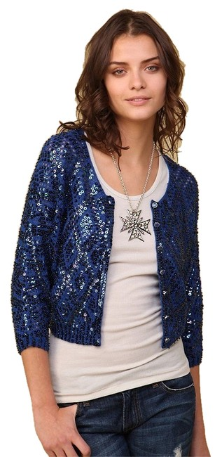 Preload https://item2.tradesy.com/images/free-people-blue-wiridescent-sequins-xss-cardigan-size-6-s-10313461-0-1.jpg?width=400&height=650