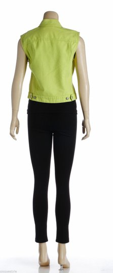 DKNY Jeans Lime Button Down Cotton (size S) Vest well-wreapped