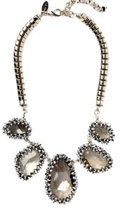 Cära Couture Jewelry Oversized Textured Crystal Necklace