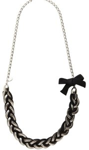 Cära Couture Jewelry Black Fabric Braided Necklace