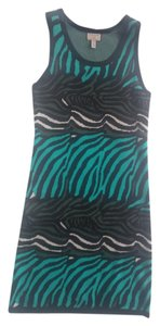 Banana Republic Knit Sleeveless Animal Print Dress