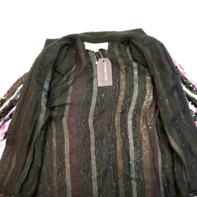 Other Vintage Sequins Blouse Cocktail Evening Party Top Black, Pink, White, Gold and Purple