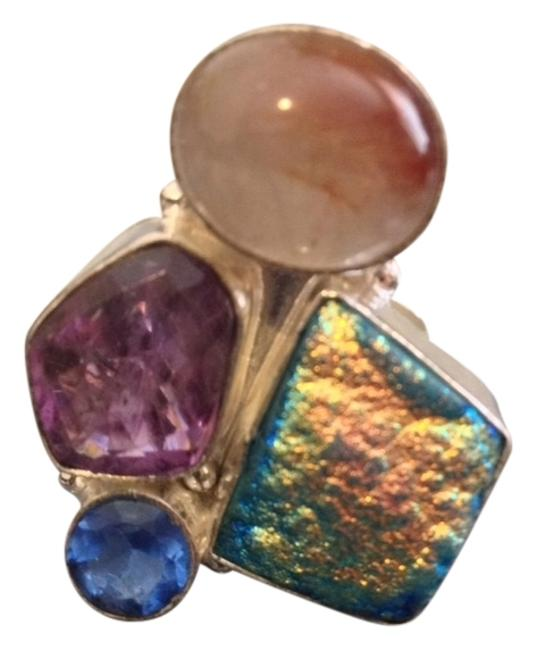 Item - Multi-color Titanium Druzy Amethyst 7 Ring