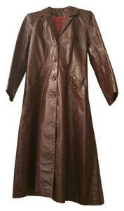 Leather Craft Process of America Chocolate Brown Leather Jacket
