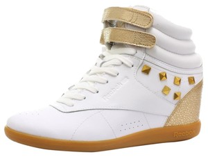 Reebok white and gold Athletic
