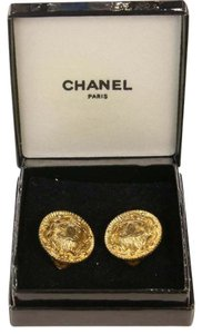 Chanel CHANEL Signature Chain Gold Classic CC Monogram Gold Earrings