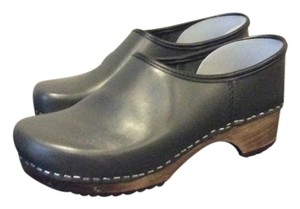 German Handmade Clogs Gray Hippy Grey Mules
