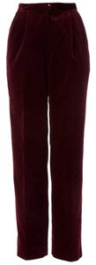 Vintage Red Trouser Pants Burgundy