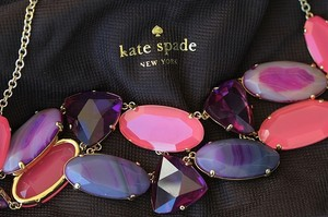 Kate Spade Pink and Purple Moody Meadows neckless