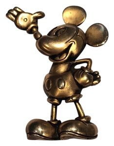 Disney Vintage Mickey in Antique Gold Plating