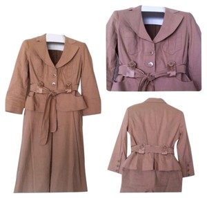 bebe Camel Brown bebe Two Piece Suit