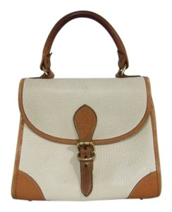 Dooney & Bourke White Tan Small Satchel in White/Tan
