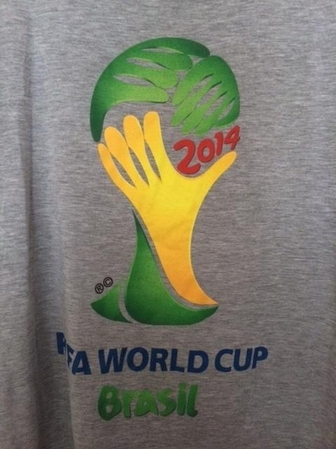 adidas Brasil World Cup Unisex T Shirt Grey and White