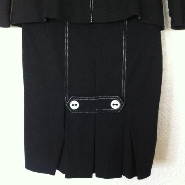 bebe bebe Black Two Piece Suit with Contrast Stitching