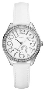 Guess GUESS Women's White Leather Strap Watch