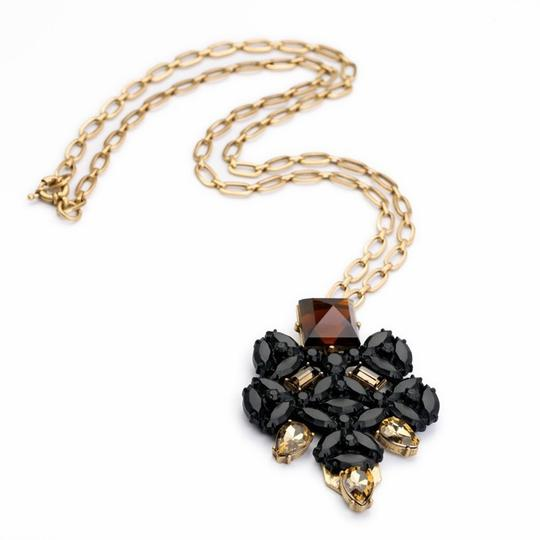 Other Matte Black Stone Pendant Necklace