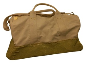 deux lux Canvas and Green Travel Bag
