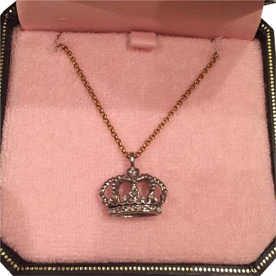 Preload https://img-static.tradesy.com/item/10317364/juicy-couture-gold-with-silver-crown-yjru1213-necklace-0-1-540-540.jpg