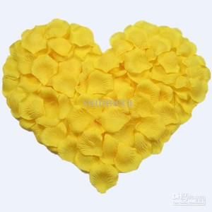 500x Yellow Silk Rose Petal More Color Available Centerpieces Table Tap Party Wedding Cake Runner Aisle
