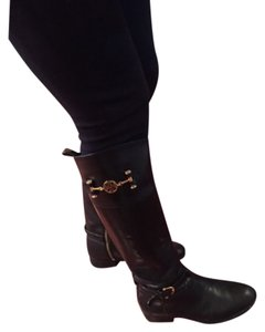 Tory Burch Black with gold hardware Boots