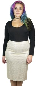 St. John Studded New Years Eve Skirt Gold, Ivory