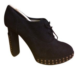 Fendi Exclusive Vinatge Heels Chunky Chunky Heels Suede Lace Lace-up Lace Up Designer Black Boots