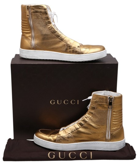 Preload https://item2.tradesy.com/images/gucci-gold-mens-exclusive-metallic-high-top-sneakers-sneakers-size-us-115-regular-m-b-10319026-0-1.jpg?width=440&height=440