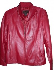 Siena Studio Cranberry Leather Jacket