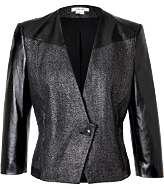 Preload https://item2.tradesy.com/images/helmut-lang-price-lowered-old-silverblack-cotton-linen-with-leather-sleeves-size-4-s-10319116-0-1.jpg?width=400&height=650