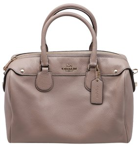 Coach Saffiano Leather Crossbody Satchel in Brown