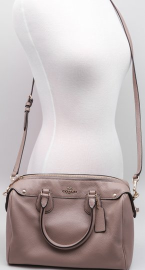 Coach Saffiano Leather Crossbody Cross-body Satchel in Brown