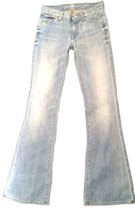 7 For All Mankind Embellished 7fam Soft Flare Leg Jeans-Distressed
