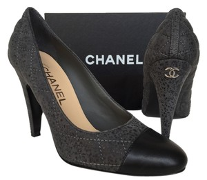 Chanel Heels Classic Grey Pumps