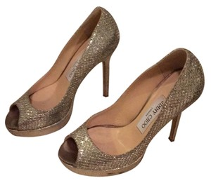 Jimmy Choo Silver sparkle Pumps