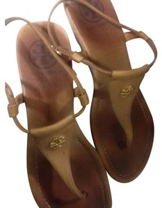 Tory Burch Light Brown Wedges