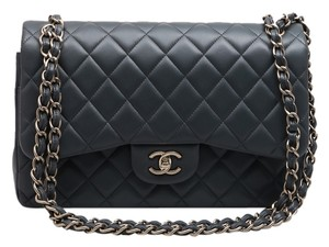 4cc281899178 Chanel Maxi Lambskin Leather Silver Silver Hardware Fashionphile Large  Double Flap Double Shoulder Bag. Chanel Double Flap Classic Maxi Jumbo ...
